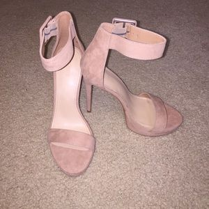 Faux Suede Taupe/Nude Stiletto Heels